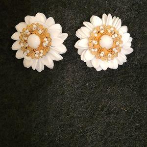 Miriam Haskell Vintage Flower Earrings